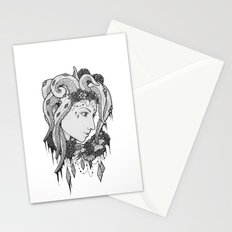 Octopus hair Stationery Cards