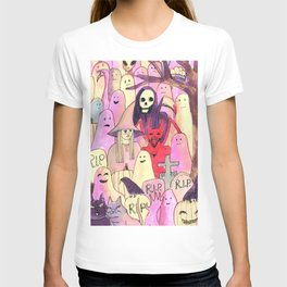 horror party funny pattern T-shirt