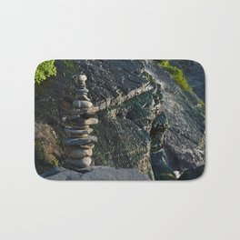Zen Stones and Waterfall Bath Mat