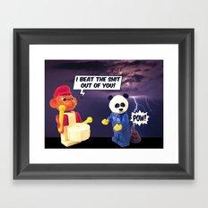 beating the shit Framed Art Print