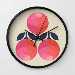 Peony Perfection Wall Clock