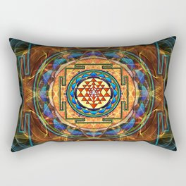 The Sri Yantra - Sacred Geometry Rectangular Pillow