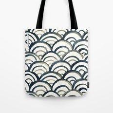 Scallop-Indigo Tote Bag
