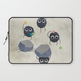 Spirited away - Susuwatari Creatures illustration - Miyazaki, Studio Ghibli Laptop Sleeve