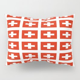 flag of Switzerland -,Swiss,Schweizer, Suisse,Helvetic,zurich,geneva,bern,godard,heidi Pillow Sham