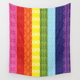 TorsoPattern Gay Pride Flag (Original 8-Color) Wall Tapestry