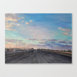 The way home_State Route 1 Canvas Print