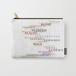 Word Inventions William Shakespeare Quote Art - Typography Carry-All Pouch