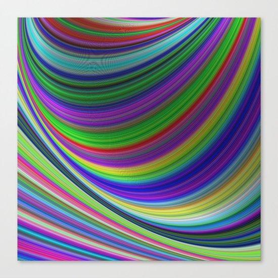 Color curves Canvas Print