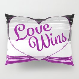Asexual Gay Pride-Love Wins Design Pillow Sham