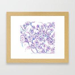 Lavendar flowers Framed Art Print
