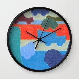 Stuck on the Slowlane Wall Clock