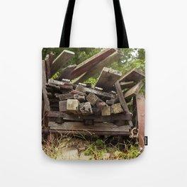 Reclaimed Woodpile Tote Bag