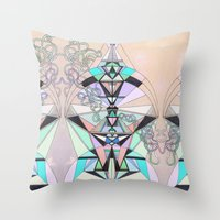 aztec Throw Pillows featuring Aztec by QUEQZZ