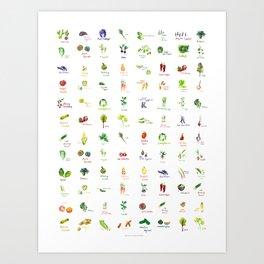 Produce Palette Art Print