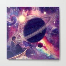 Saturn View Metal Print