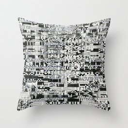 Confused Images Behind the Interface (P/D3 Glitch Collage Studies) Throw Pillow