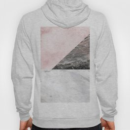 Smokey marble blend - pink and grey stone Hoody
