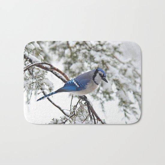 Beautiful Blue Jay Bath Mat