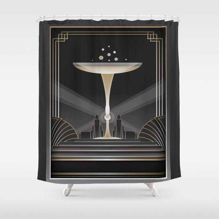 Art deco design VI Shower Curtain
