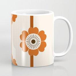 Foxy - 70s style throwback retro flowers floral pattern minimal decor art 1970's Coffee Mug