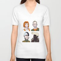 fifth element V-neck T-shirts featuring Fifth Element by enerjax