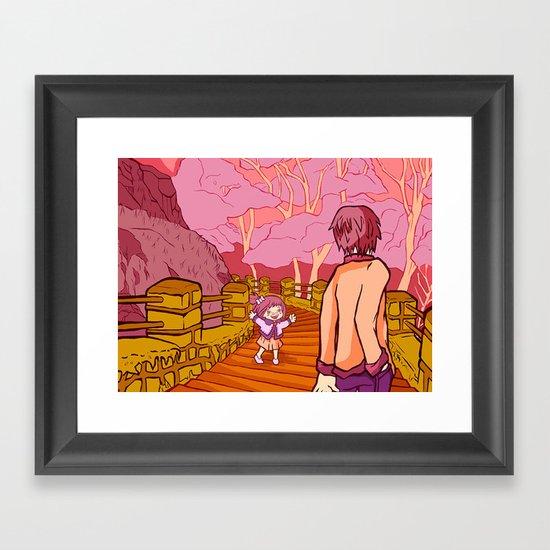 Walk in a park Framed Art Print