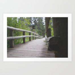Path over the Mississippi River Art Print
