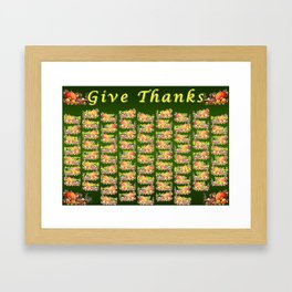 Give Thanks Framed Art Print