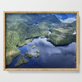 Misty Fiords national monument 2 Serving Tray