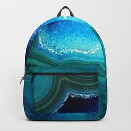 Teal Blue Agate II Backpack