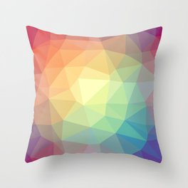 LOWPOLY RAINBOW Throw Pillow