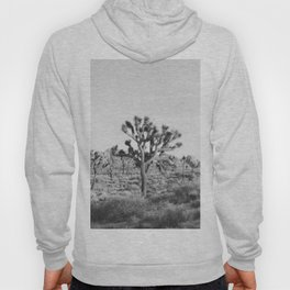 Large Joshua Tree in Black and White Hoody