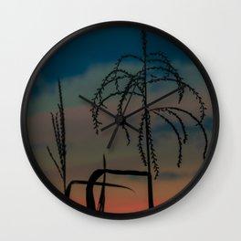 maizen close-up at sunset Wall Clock