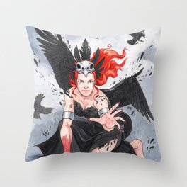 Transformation of The Morrigan Throw Pillow