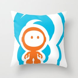 Spaceman 01 Throw Pillow