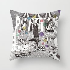 Night Carnival Throw Pillow