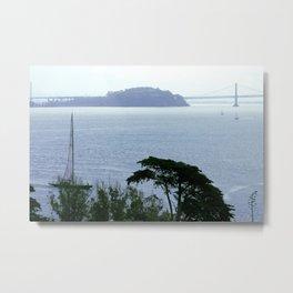 Treasure Island from Alcatraz Metal Print
