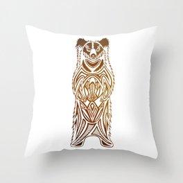 Sloth The Sloth Bear Throw Pillow