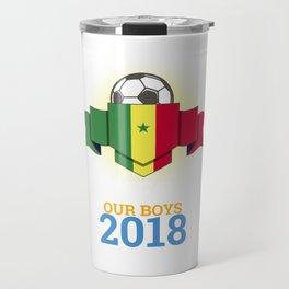 Football Senegalese Senegal 2018 Soccer Team Sports Footballer Goalie Rugby Gift Travel Mug