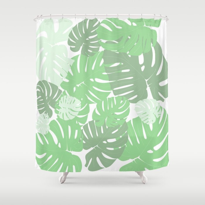 MONSTERA DELICIOSA SWISS CHEESE PLANT Shower Curtain