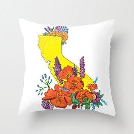 California poppy Season Throw Pillow