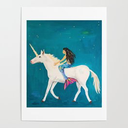 To the Land of Mermaids and Unicorns Poster