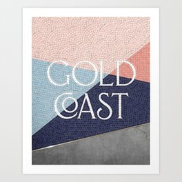 Gold Coast (Blue) Art Print