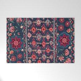 Lakai Suzani Shakhrisyabz Uzbek Embroidery Print Welcome Mat