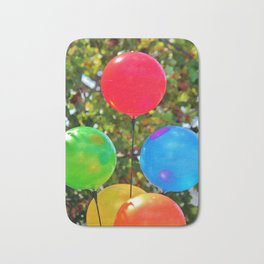 Party Balloons Bath Mat