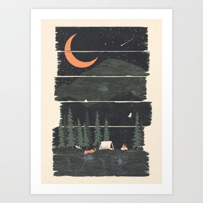 Wish I Was Camping... Art Print