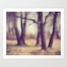 The Haunted Forest Art Print