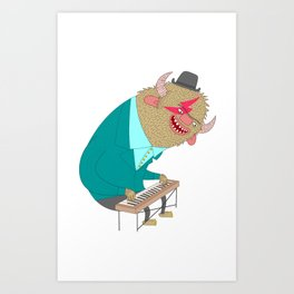 the organ monster Art Print