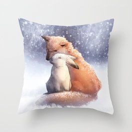 Keep Me Warm Throw Pillow